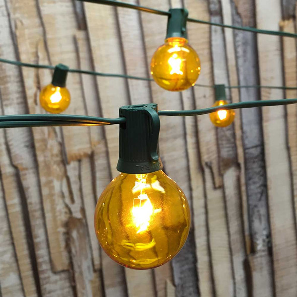 Yellow Globe Lights with G50 Bulbs