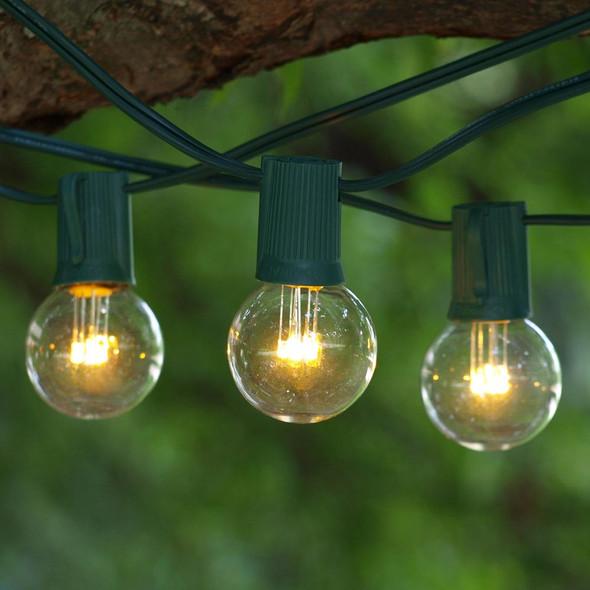 25' C9 LED String Lights with Premium LED G40 Bulbs