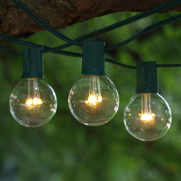 25' C9 LED String Lights with Premium LED G50 Bulbs