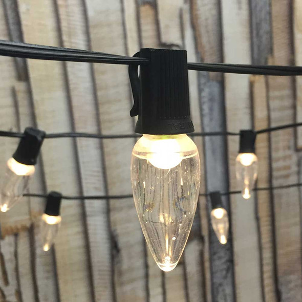 50' LED String Lights with Smooth LED C9 Bulbs