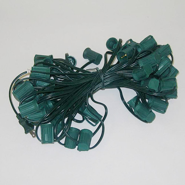 50' Green C9 String Light Cord