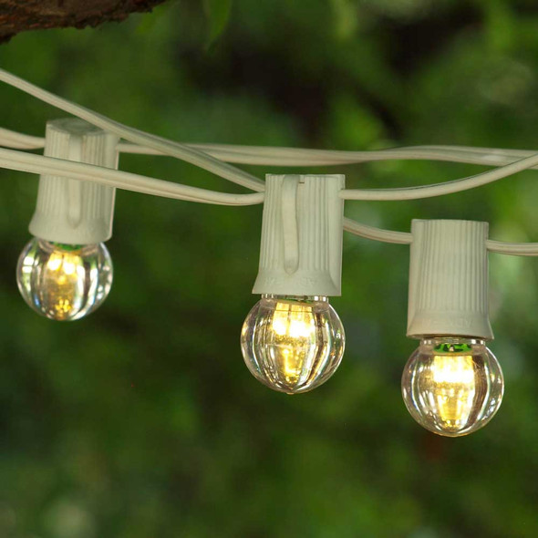 50' White C9 String Light with LED G30 Bulbs