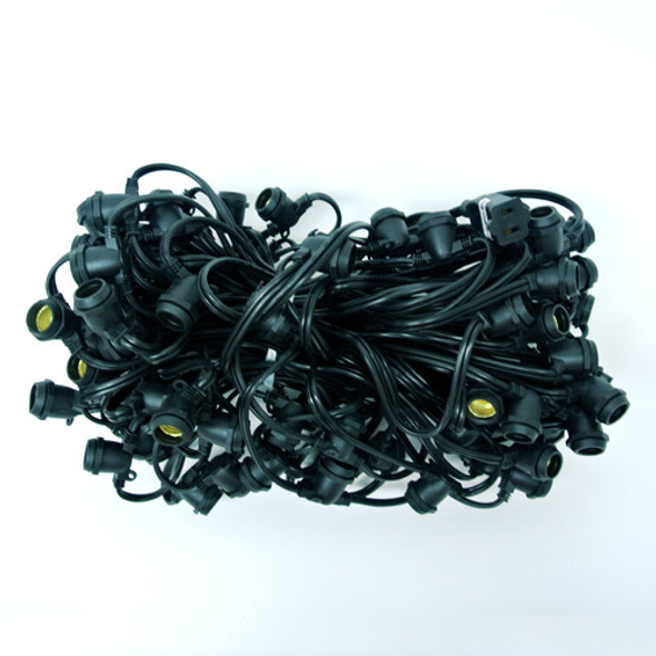 100' Black C9 Commercial String Light Cord
