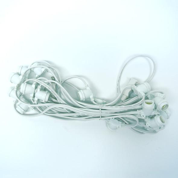 25' White Commercial C9 String Light Cord