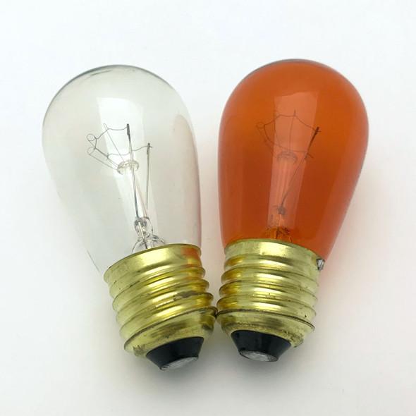 Amber & Clear S14 Bulbs
