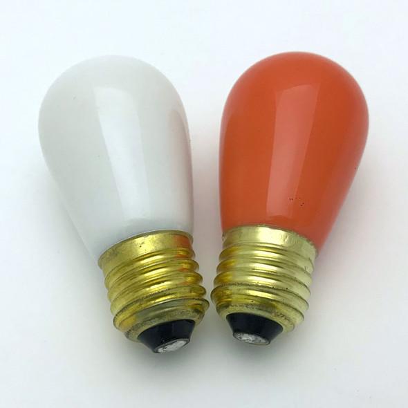 Opaque Amber & Clear S14 Bulbs