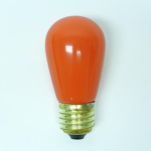 S14 Opaque Orange Bulb