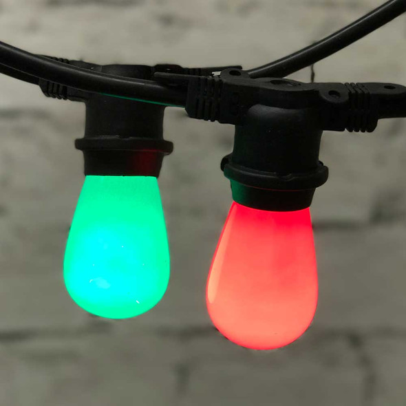 Outdoor Christmas String Light with Opaque S14 Bulbs