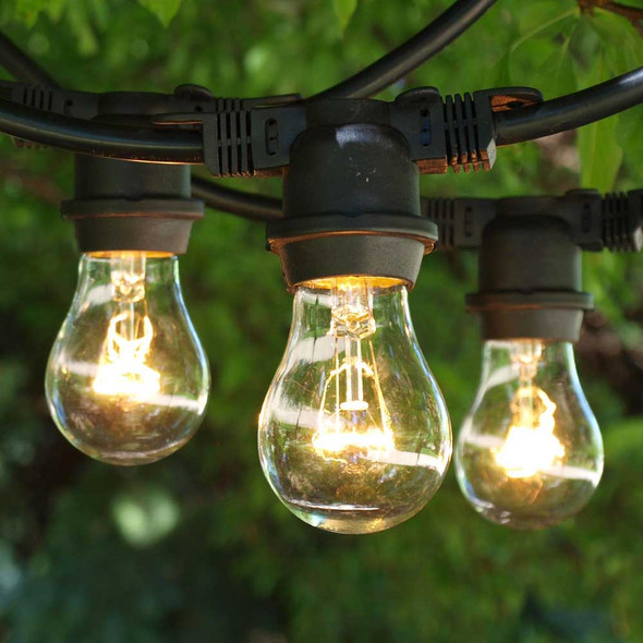 48' Black Outdoor String Light with A15 Bulbs