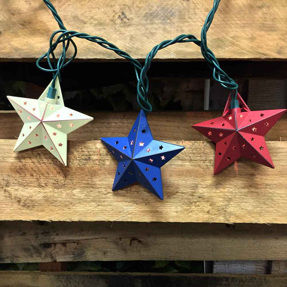 Red, White & Blue Star Party Lights