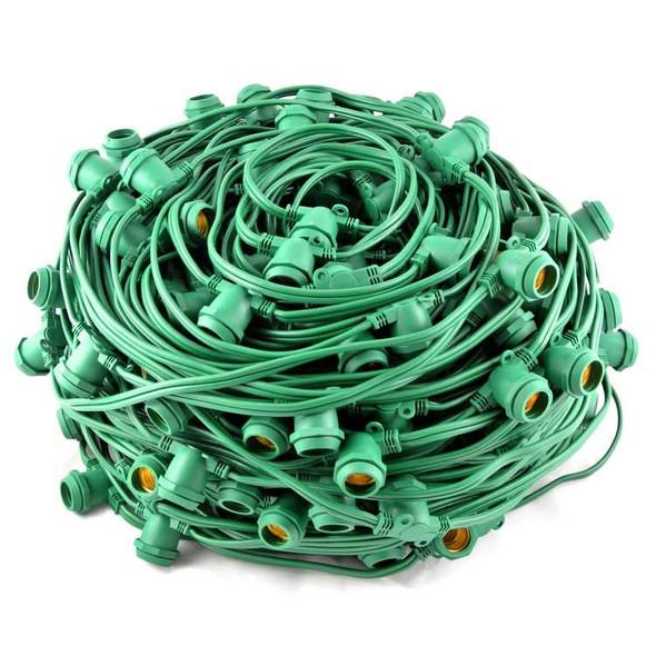 Bulk Reel Green C9 Commercial String Light Cord