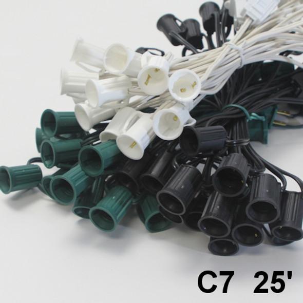25 foot C7 string light cords