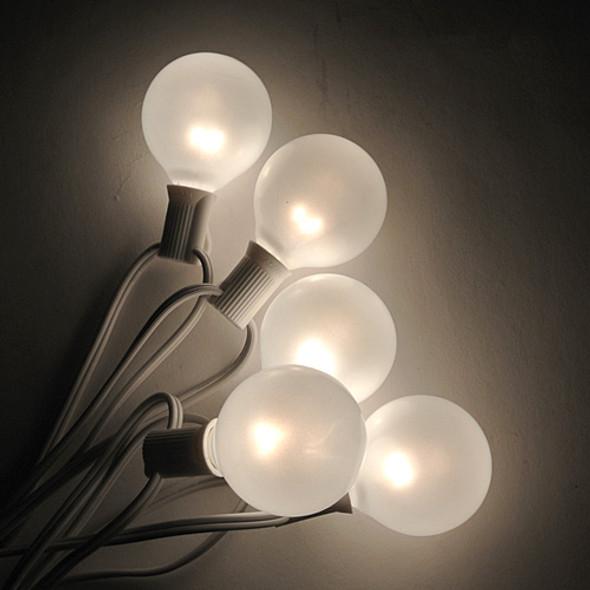 White C7 String Light with White Satin G50 Bulbs
