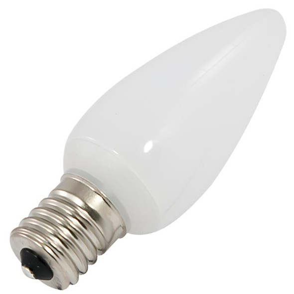 C9 Smooth Opaque Bulb - warm white