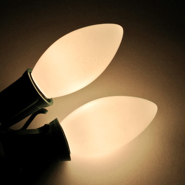 C9 Bulb - opaque white