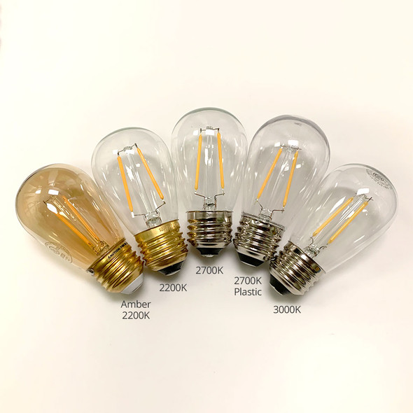 LED S14 Vintage Bulbs options