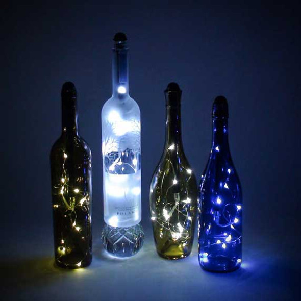 Bottle Fairy Lights in Bottles