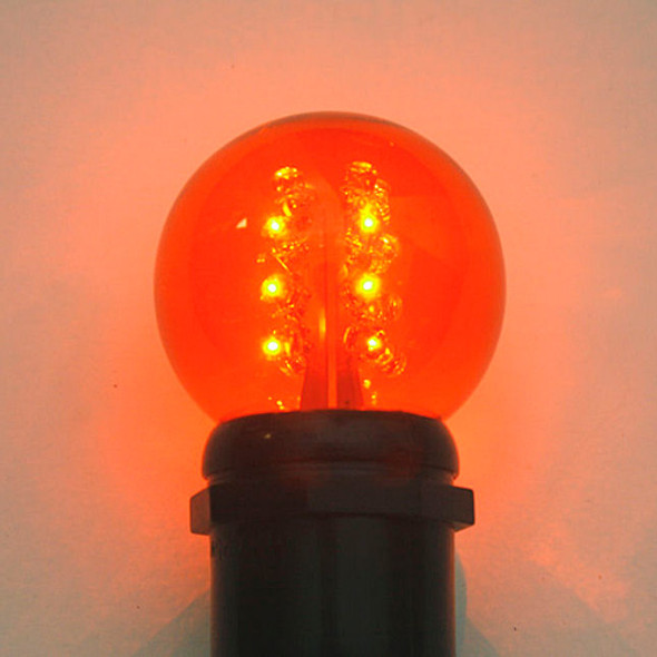 Premium LED G50 Bulb - Amber (lit)