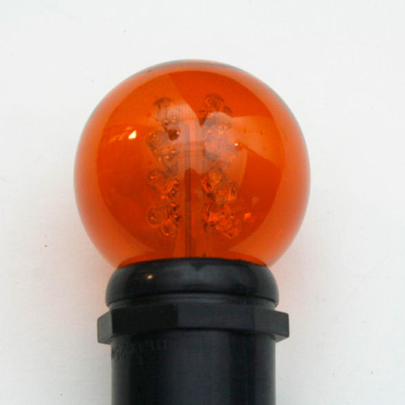 Premium LED G50 Bulb - Amber (in socket)