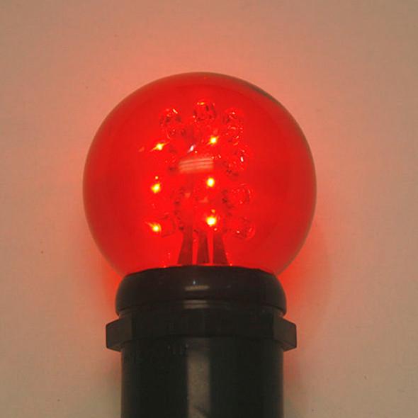 Premium LED G50 Bulb - Red