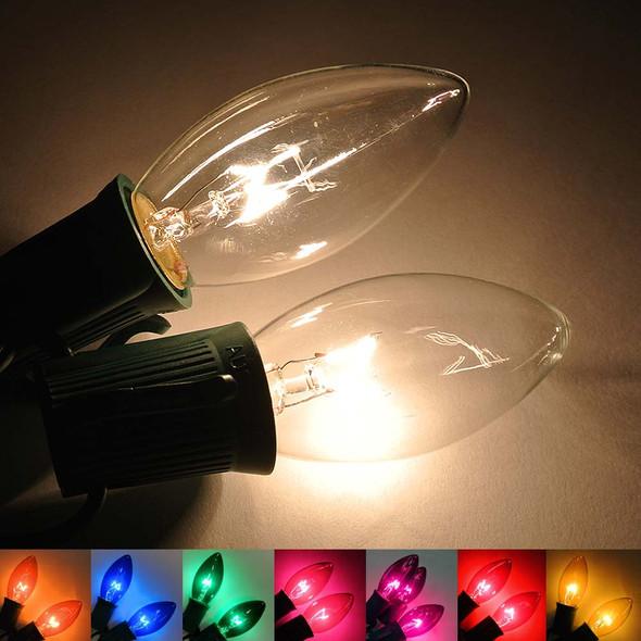 C9 Bulbs clear & transparent