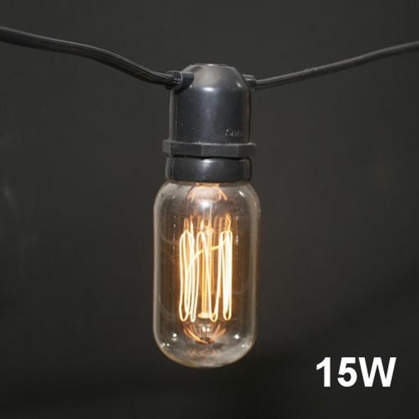 T14 Edison Bulb - squirrel cage filament - 15W