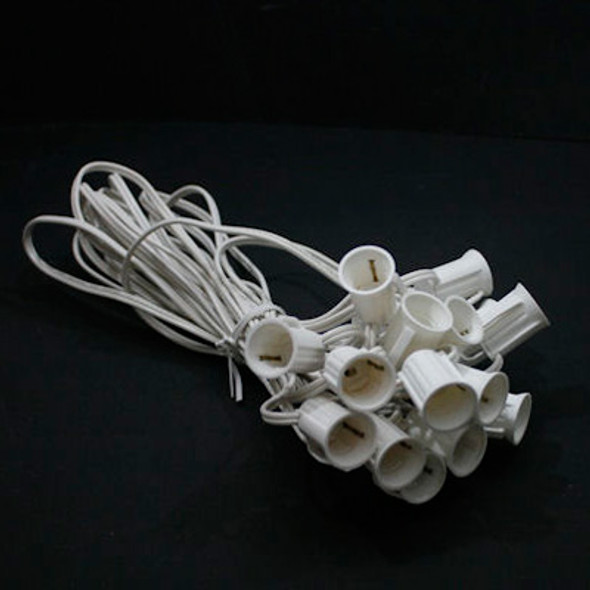 "C9 String Light - 30' White with 24"" Spacing"