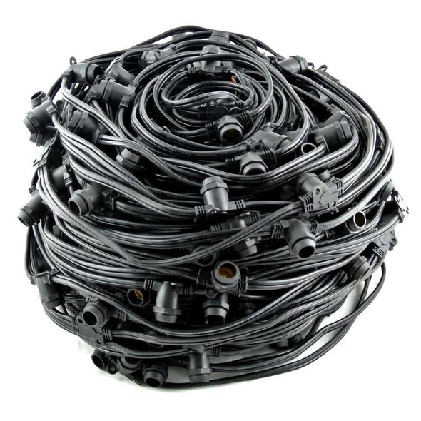 330' C7 Commercial String Light Cord, Black