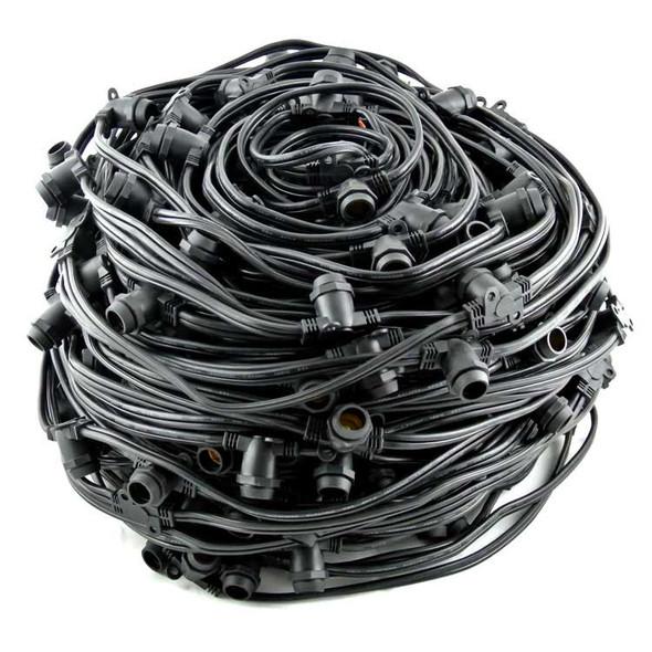 330' C7 Commercial String Light Cord, Black