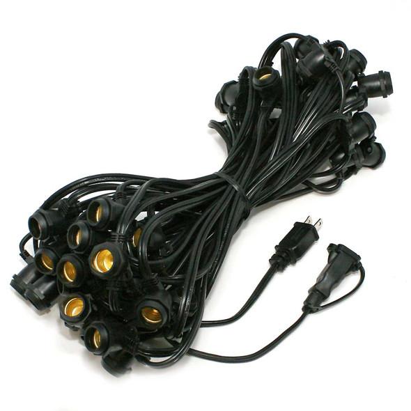 56' Black C9 Commercial String Light Cord