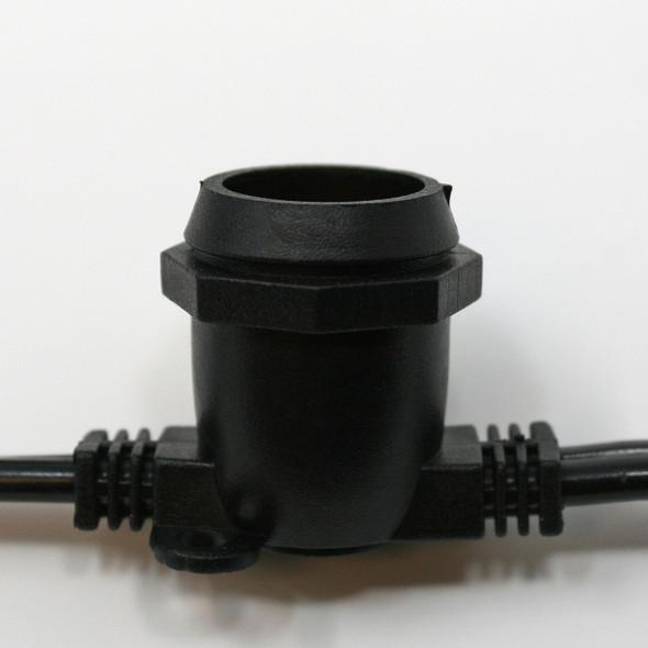 Black C9 Commercial String Light Cord socket