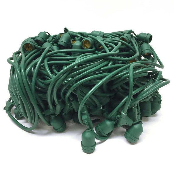 Bulk Reel Green Commercial String Light Cord Suspended Socket
