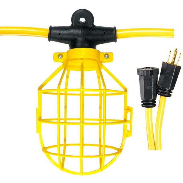 50' Plastic Cage Commercial String Lights