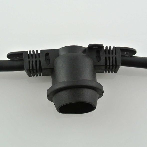 Black Commercial String Light Cord - Custom Length