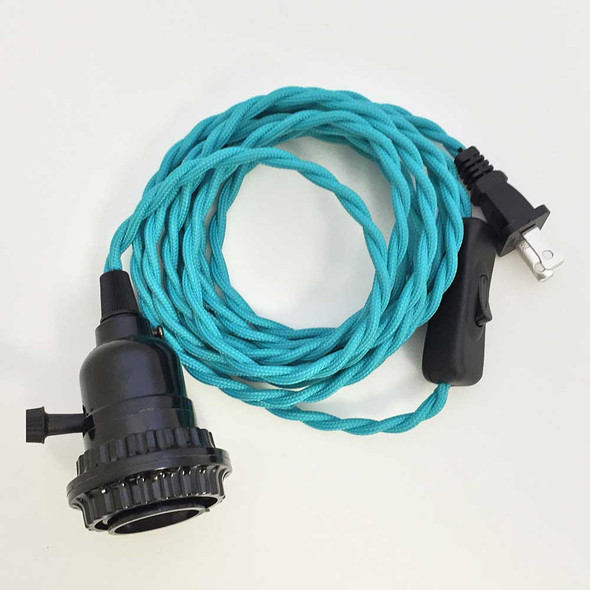 Turquoise Blue Pendant Light Cord