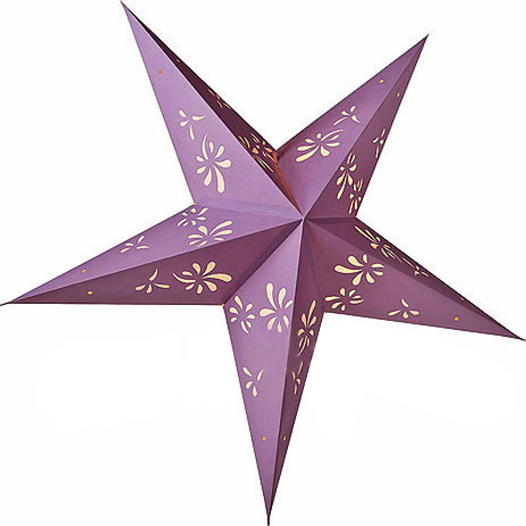 Lilac Star Paper Lantern