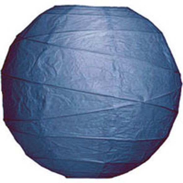 Navy Blue Paper Lantern 14 in.