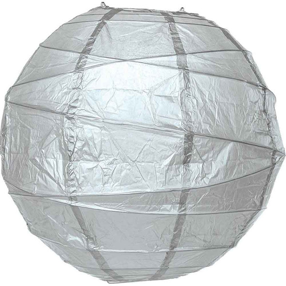 Platinum Silver Paper Lantern 14 in.