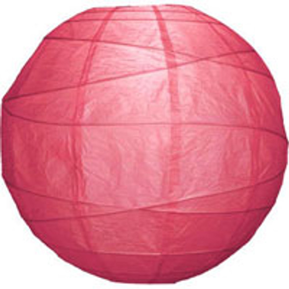 Fuchsia Pink Paper Lantern 18 in.