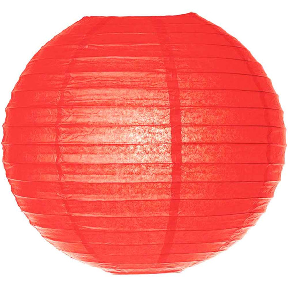 Poppy Red Paper Lantern 8 in.