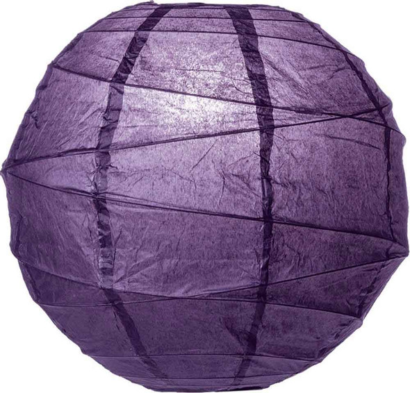Aubergine Purple Paper Lantern 10 in.
