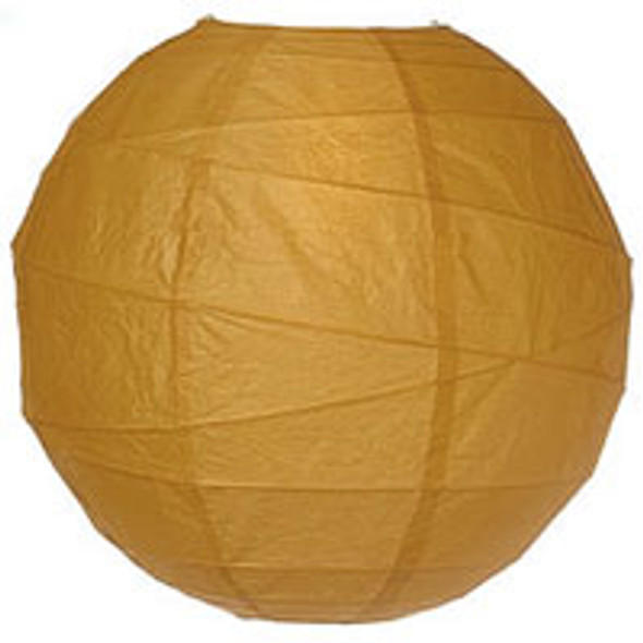 Butterscotch Brown Paper Lantern 10 in.
