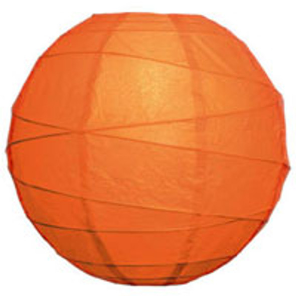 Tangerine Orange Paper Lantern 10 in.