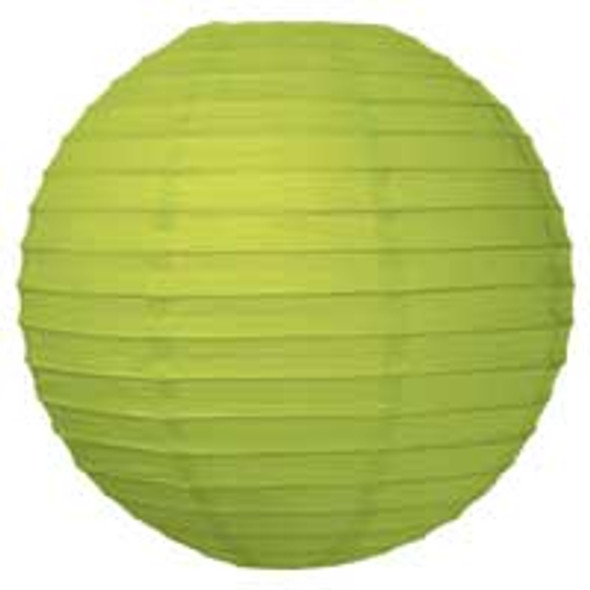 Chartreuse Green Paper Lantern 12 in.