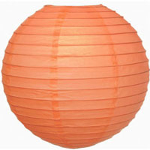 Coral Pink Paper Lantern 12 in.