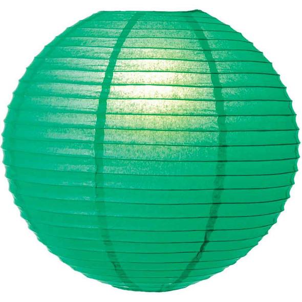 Emerald Green Paper Lantern 12 in.