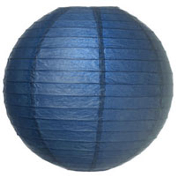 Navy Blue Paper Lantern 12 in.
