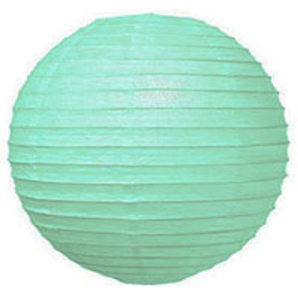 Robin Egg Blue Paper Lantern 12 in.