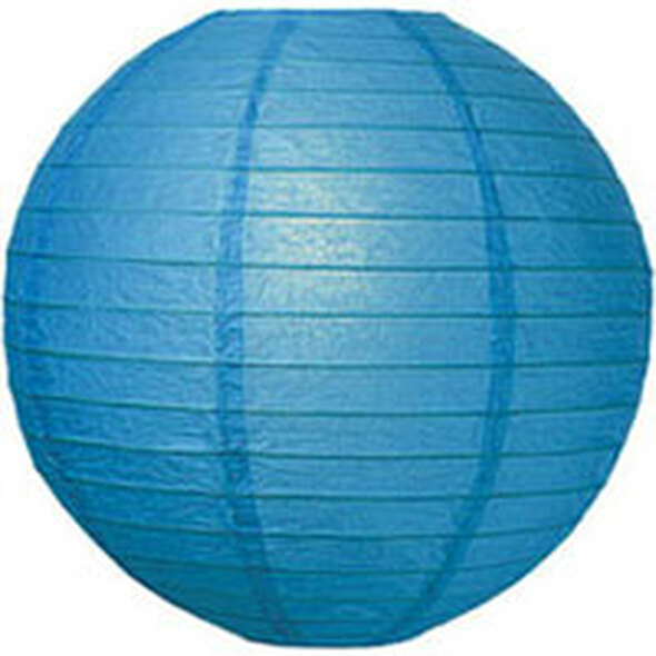 Turquoise Blue Paper Lantern 12 in.