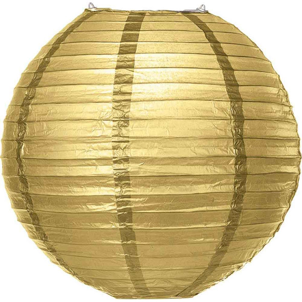 Gold Paper Lantern 16 in.